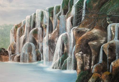 LUR-art/ Therese Lurvink, Wasserfall II, Miscellaneous Landscapes, Nature: Water