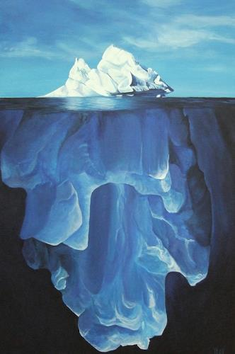 LUR-art/ Therese Lurvink, Eisberg I, Landscapes: Sea/Ocean, Nature: Water
