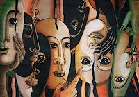 LUR-art--Therese-Lurvink-Abstract-art-People-Faces-Modern-Age-Abstract-Art