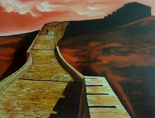 LUR-art/ Therese Lurvink, Chinesische Mauer, Miscellaneous Buildings, Miscellaneous Landscapes