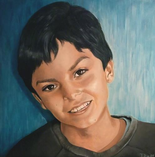 LUR-art/ Therese Lurvink, Portrait Dominik, People: Portraits, People: Children