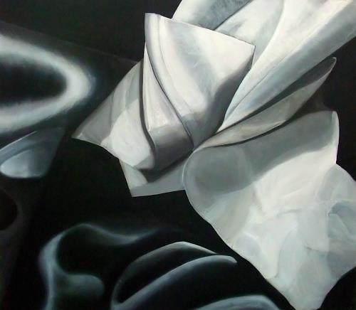 LUR-art/ Therese Lurvink, Papier-Tuch-Studie, Movement