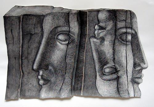 LUR-art/ Therese Lurvink, Nichts ist für die Ewigkeit, People: Faces, Abstract art