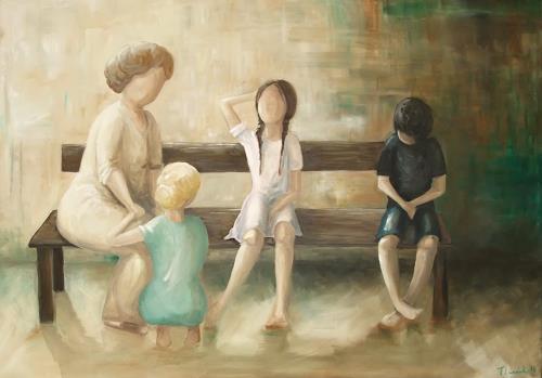 LUR-art/ Therese Lurvink, idyllische Verschwörung, Society, People: Group
