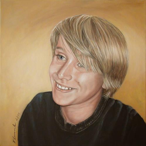 LUR-art/ Therese Lurvink, Portrait Noah, People: Portraits, People: Children