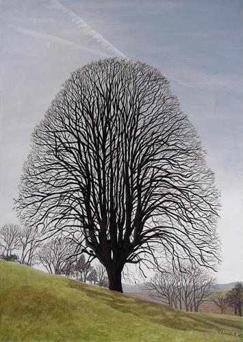 LUR-art/ Therese Lurvink, Baum im Baselbiet, Landscapes: Autumn, Nature: Miscellaneous