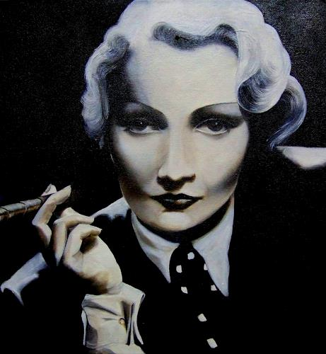LUR-art/ Therese Lurvink, Marlene Dietrich, People: Portraits, People: Women, Abstract Expressionism