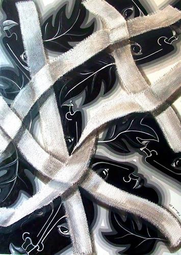 LUR-art/ Therese Lurvink, Vernetzung, Abstract art, Society