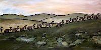 Wunderli-Sabine-Landscapes-Hills-Animals-Land