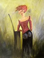 Wunderli-Sabine-People-Women-Modern-Age-Expressionism-Neo-Expressionism