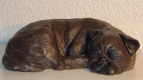 Wunderli Sabine, Mops aus Ton/Keramik, Decorative Art, Modern Age