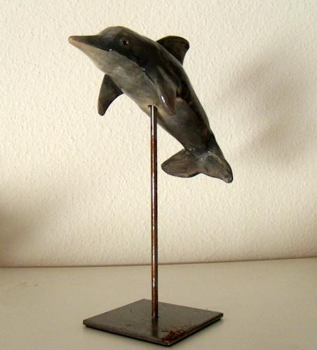 Wunderli Sabine, Krafttier Delfin, Decorative Art, Concrete Art
