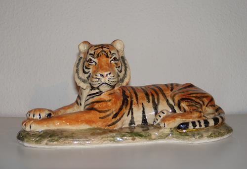Wunderli Sabine, Keramikfigur Tiger, Mythology, Modern Age