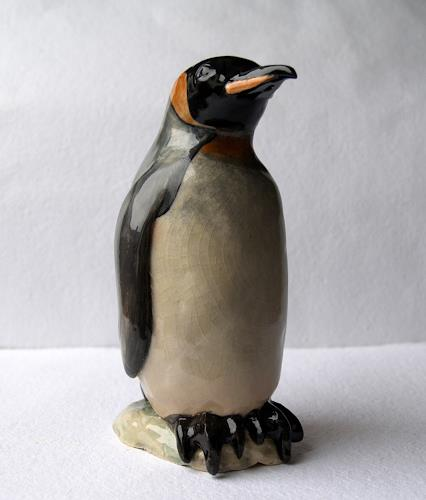 Wunderli Sabine, Königspinguin, Pinguin, Tierskulptur, Decorative Art, Decorative Art, Naturalism