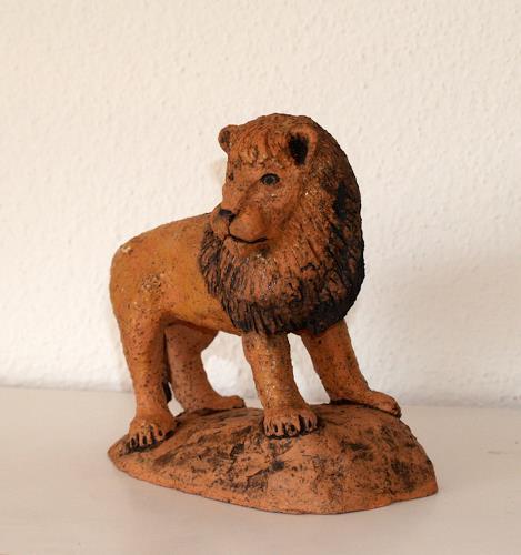 Wunderli Sabine, Löwe, Tierfigur, Sternzeichen, Krafttier, Decorative Art, Decorative Art, Naturalism