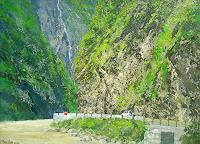 priyadarshi-gautam-Landscapes-Mountains-Nature-Rock-Modern-Age-Impressionism