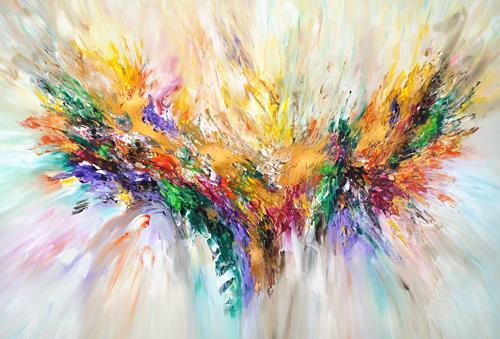 Peter Nottrott, Golden Wings XL 1, Abstract art, Abstract Art, Expressionism