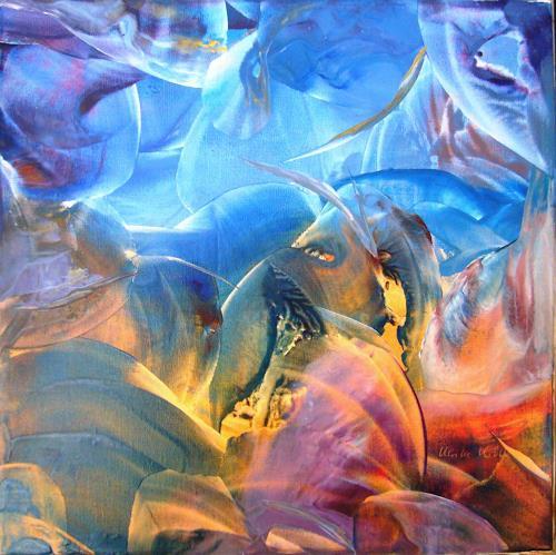 Ulrike Kröll, Unruhe unter Wasser, Abstract art, Movement, Abstract Art, Expressionism