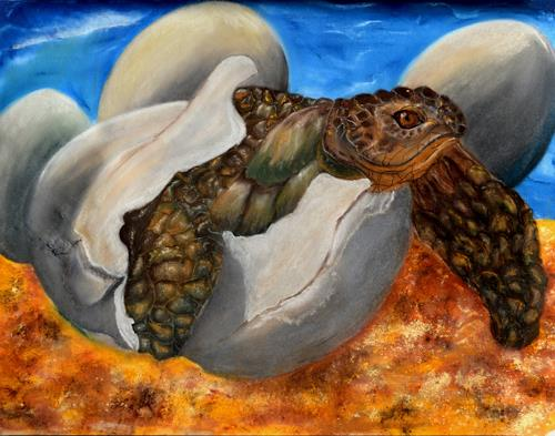 Ulrike Kröll, Geschlüpft, Animals: Water, Animals: Land, Contemporary Art