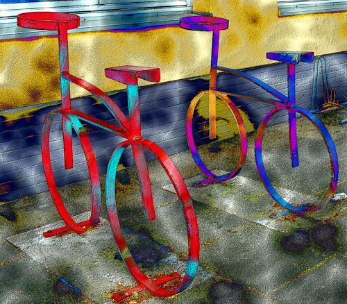 Ulrike Kröll, Bicycles -  Digital-ART - limitiert (01/10), Decorative Art, Traffic: Bicycle, Modern Age