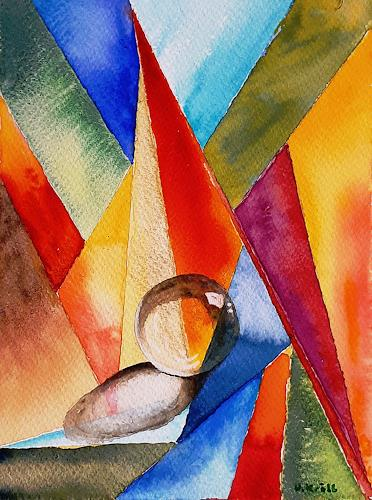 Ulrike Kröll, Farbige Formen - Aquarell, Decorative Art, Miscellaneous, Modern Age