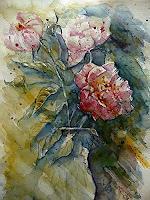 Brigitte-Heck-Plants-Flowers-Still-life-Contemporary-Art-Contemporary-Art