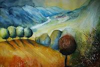 Brigitte-Heck-Landscapes-Mountains-Landscapes-Hills-Contemporary-Art-Contemporary-Art