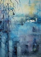 Brigitte-Heck-Landscapes-Hills-Abstract-art-Modern-Age-Expressive-Realism