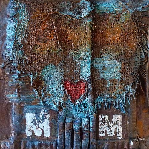 Brigitte Heck, Nr. 15 - Eisenherz, Abstract art, Still life, Contemporary Art