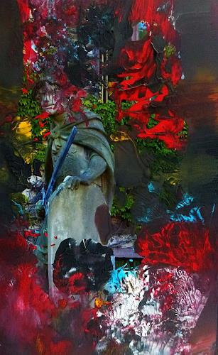 Brigitte Heck, Unterwelten Nr. 9, Fantasy, Fairy tales, Contemporary Art, Abstract Expressionism