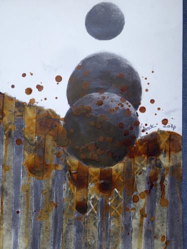 Brigitte Heck, Geburt der Sterne, Symbol, Mythology, Contemporary Art, Abstract Expressionism