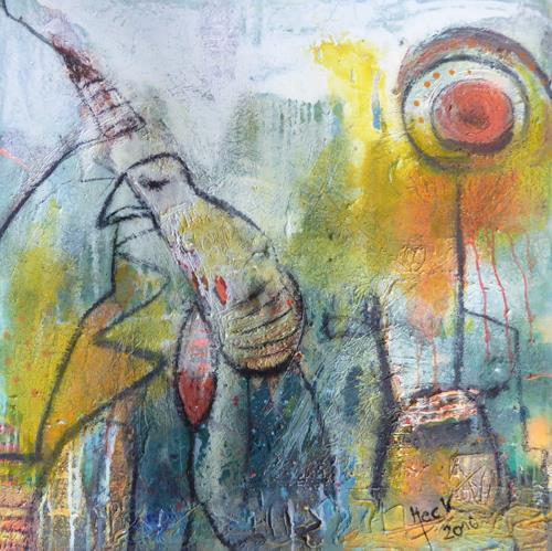 Brigitte Heck, Ameisenvogel, Still life, Fantasy, Non-Objectivism [Informel]