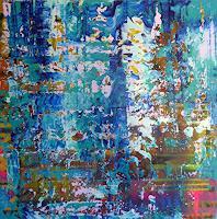 Brigitte-Heck-Nature-Water-Abstract-art-Modern-Age-Abstract-Art-Non-Objectivism--Informel-