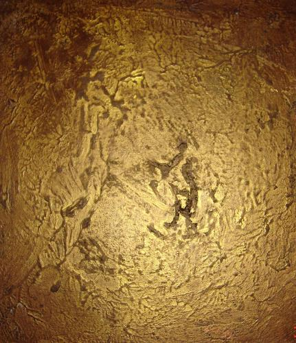 Silke Brandenstein, Golden light 2, Abstract art