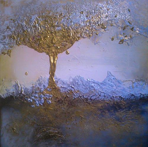 Silke Brandenstein, Die Saat geht auf..., Symbol, Belief, Abstract Expressionism, Expressionism