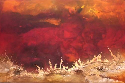 Silke Brandenstein, Feueratem, Nature: Fire, Nature: Earth, Abstract Expressionism, Expressionism