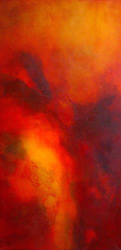 Silke Brandenstein, Feuervogel, Nature: Fire, Mythology, Abstract Expressionism