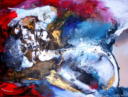 Silke Brandenstein, Weil du mein Atem bist Version II, Fantasy, Belief, Abstract Expressionism