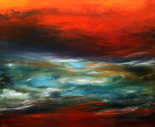 Silke Brandenstein, Herz der Erde, Nature: Earth, Nature: Water, Abstract Expressionism