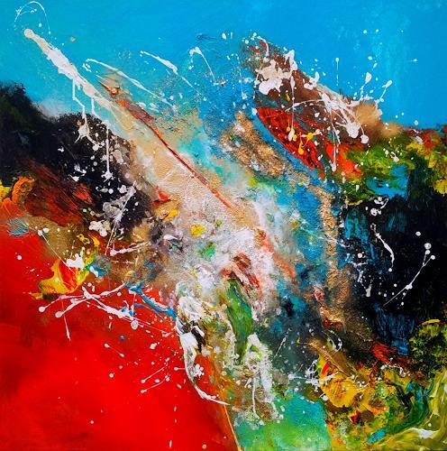 Silke Brandenstein, FREIDREHEN, Symbol, Action Painting, Abstract Expressionism