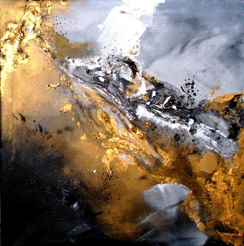 Silke Brandenstein, Golden Galaxy, Outer space, Fantasy, Abstract Expressionism