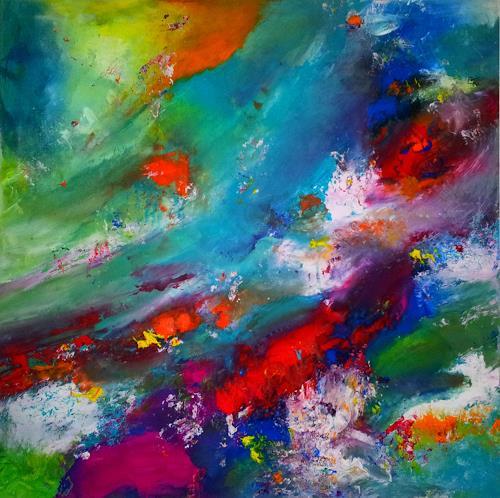 Silke Brandenstein, Überall ist Wunderland, überall ist Leben, Fantasy, Abstract Expressionism