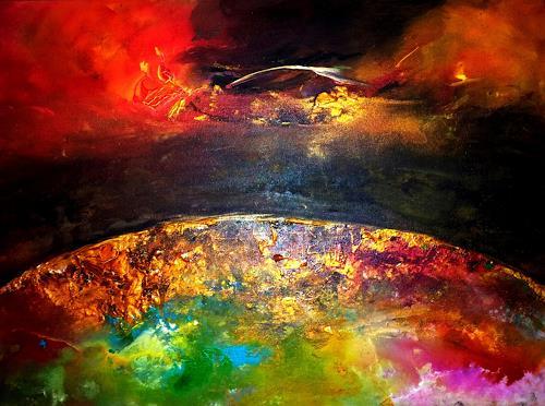 Joy Silke Brandenstein, Woran du glaubst, Belief, Outer space, Abstract Expressionism