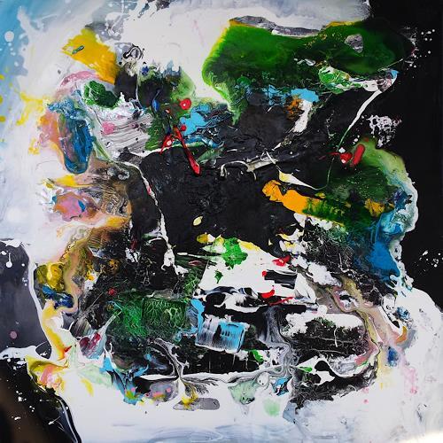 Silke Brandenstein, ZEITREISE, Outer space, Fantasy, Abstract Art