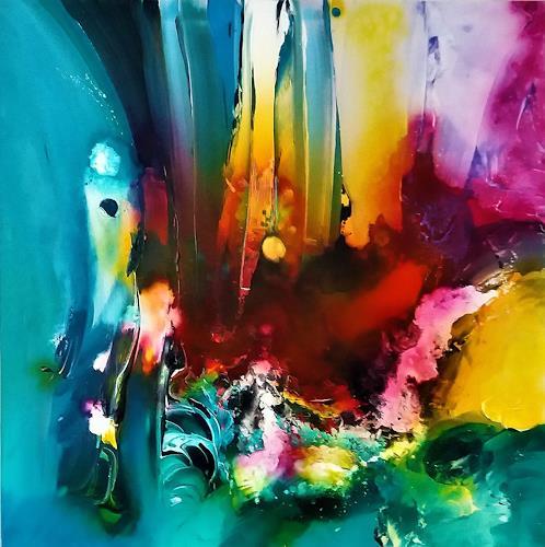 Silke Brandenstein, Regenbogenseele, Fantasy, Symbol, Abstract Expressionism, Expressionism