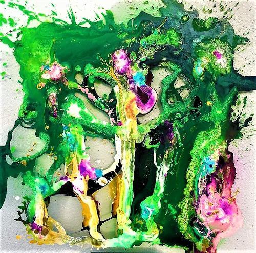 Silke Brandenstein, Dornröschen ist aufgewacht!, Fantasy, Fairy tales, Abstract Art, Abstract Expressionism