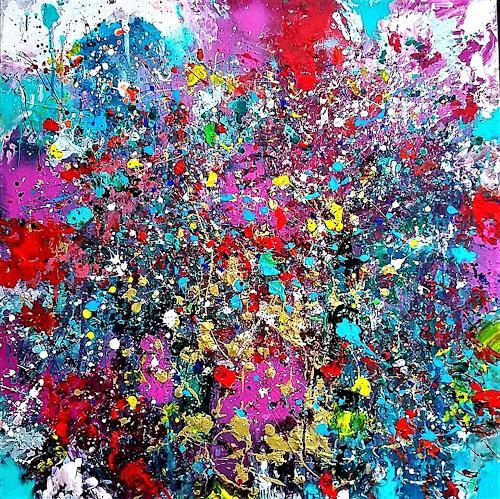 Silke Brandenstein, ZAUBERSCHÖN, Fantasy, Emotions: Joy, Procesual Art, Abstract Expressionism