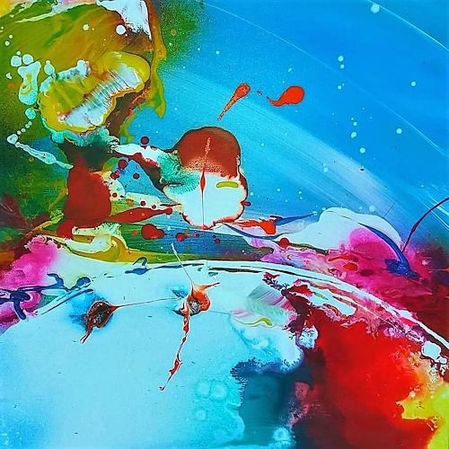 Silke Brandenstein, Seelenzauber 1, Fantasy, Colour Field Painting, Abstract Expressionism