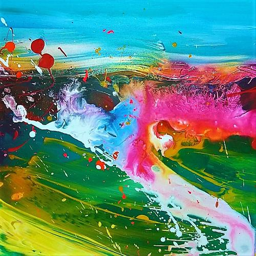 Silke Brandenstein, Seelenzauber 5, Fantasy, Colour Field Painting, Abstract Expressionism