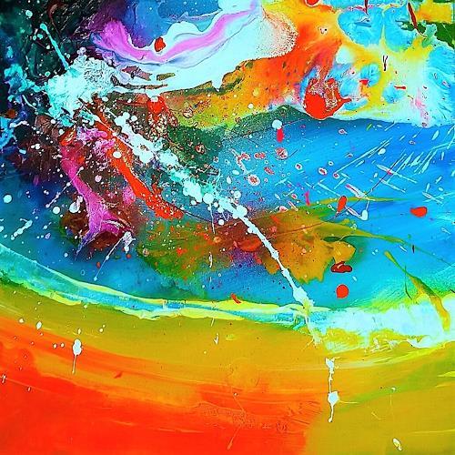 Silke Brandenstein, Seelenzauber 7, Fantasy, Colour Field Painting